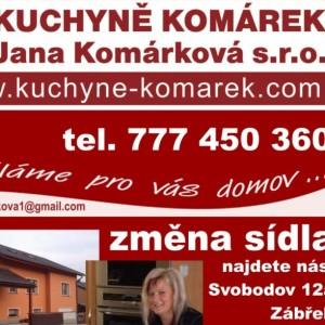 Kuchyně Komárek – Jana Komárková, s.r.o.