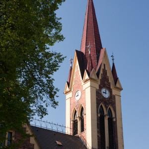 věž husitského kostela