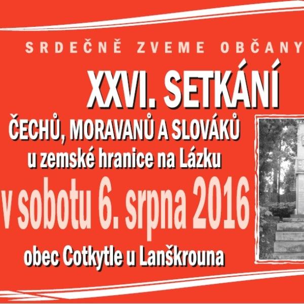 XXVI. Setkání Čechů, Moravanů a Slováků