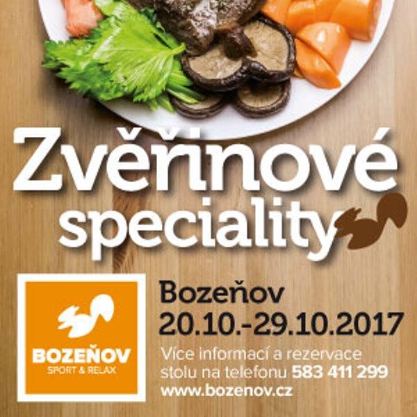 Zvěřinové speciality na Bozeňově