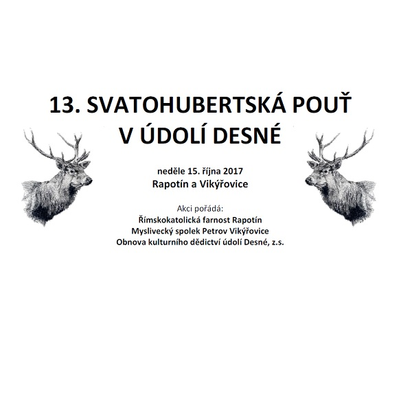 13. Svatohubertská pouť v údolí Desné
