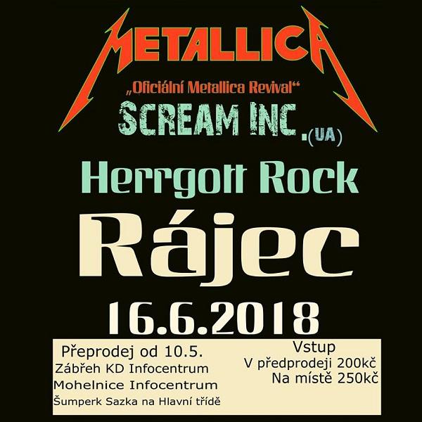 Metallica tribute band Scream Inc