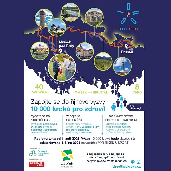 Říjnová výzva 10.000 kroků Zábřeh