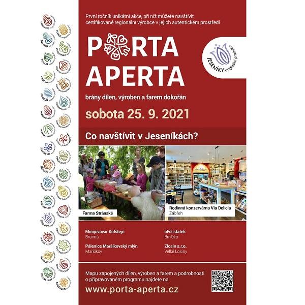 PORTA APERTA – Den otevřených dílen, farem a výroben